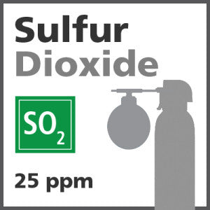 Sulfur Dioxide Bump Test Gas - 25 ppm (SO2)