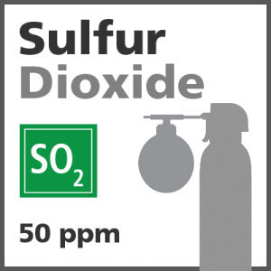 Sulfur Dioxide Bump Test Gas - 50 ppm (SO2)