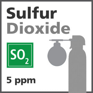 Sulfur Dioxide Bump Test Gas - 5 ppm (SO2)