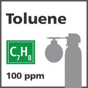 Toluene Bump Test Gas - 100 PPM (C7H8)