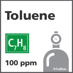 Toluene Calibration Gas - 100 PPM (C7H8)