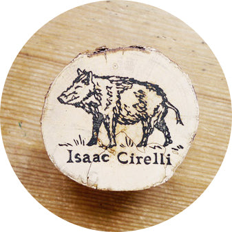 Animal and Name, Custom Designed and Hand Carved Rubber Stamp
