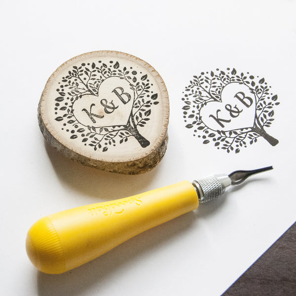 Monogram in Tree Custom Wedding Stamp