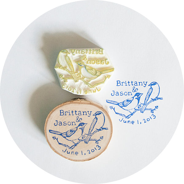 Handmade Custom Wedding Rubber Stamp