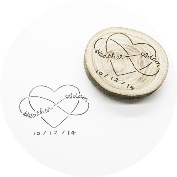 Infinite Love Stamp with Names & Date