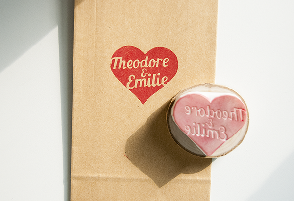Custom Heart Stamp with Names