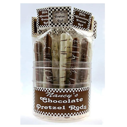 chocolate covered pretzels 36 per tub
