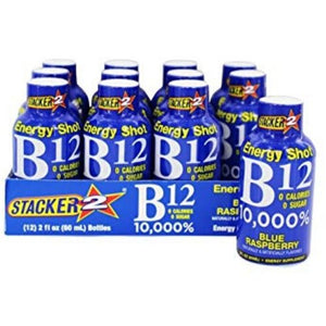 Stacker 2 Energy Shot B12 Blue Raspberry 12/2oz