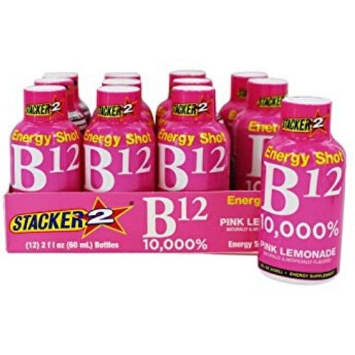 Stacker 2 Energy Shot B12 Pink Lemonade 12/2oz