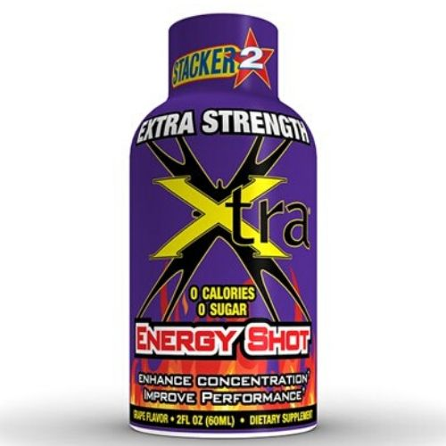Stacker 2 Energy Shot Extra Strength Grape 12/2oz