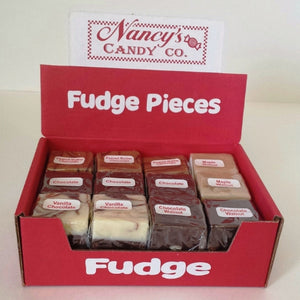 assorted gourmet fudge pieces