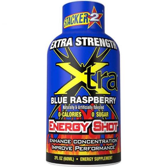 Stacker 2 Energy Shot Extra Strength Blue Raspberry 12/2oz