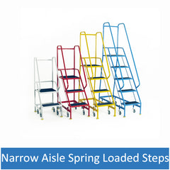 Narrow Aisle Spring Loaded Steps