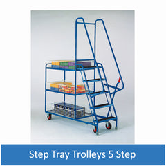 Step Tray Trolleys - 5 Step