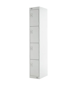 Four Door Locker - Quick Delivery - Light Grey Doors