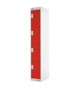 Four Door Locker - Quick Delivery - Red Doors