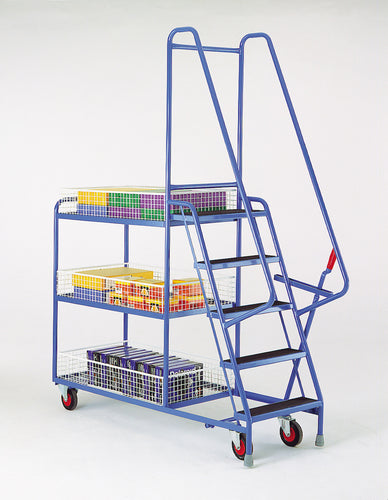 5 Step Tray Trolley - Removable Baskets Heavy Duty