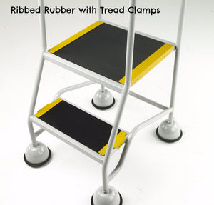 Ribbed Rubber with Tread Clamps
