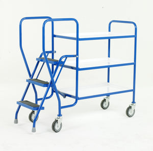 3 Step Tray Trolley - Reversible Trays Medium Duty