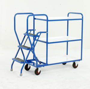 3 Step Tray Trolley - Reversible Trays Heavy Duty