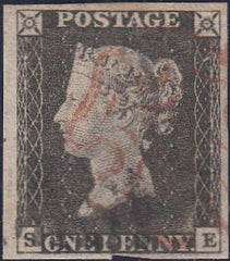 100149 - PL.4 (SE) (SG2) CANCELLED BLACK AND RED MALTESE CROSSES (SPEC A1vk CAT £2600).