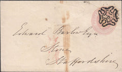 100194 - LONDON NO.3 IN MALTESE CROSS/ID PINK ENVELOPE.
