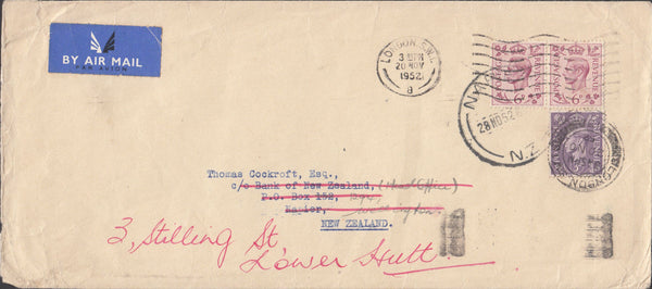 100240 - 1952 MAIL LONDON TO NEW ZEALAND.