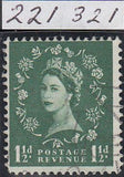 "100272 - 1957 1½D WILDING GRAPHITE LINE ISSUE VARIETY ""BOTH LINES AT LEFT"" (SG563a)."