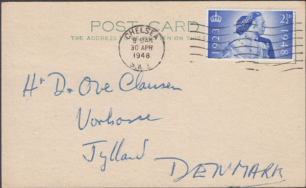 100444 - 1948 MAIL LONDON TO DENMARK/SILVER WEDDING.
