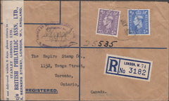 100553 - 1948 REGISTERED MAIL LONDON TO CANADA/BPA ASSOC.