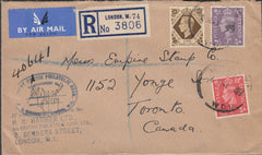 100568 - 1949 REGISTERED MAIL LONDON TO CANADA/B.P.A.