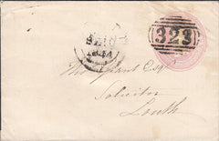 "100691 - ""323"" 1844 BARRED NUMERAL OF GRIMSBY USED SEPTEMBER 1844."