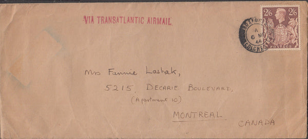 100725 - 1944 MAIL COLCHESTER TO MONTREAL.