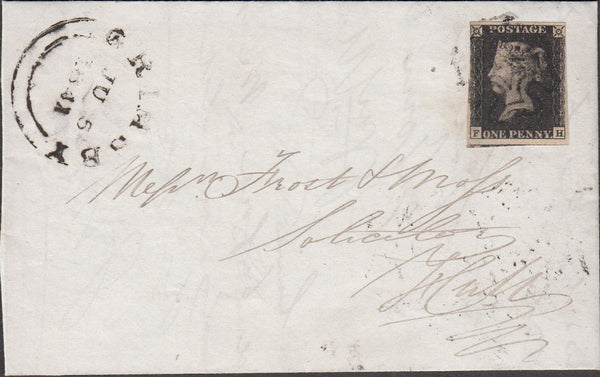 100984 - PL.10 (FH) (SG2) ON COVER GRIMSBY TO HULL.