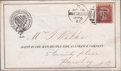101200 - THE MANCHESTER FIRE ASSURANCE COMPANY 1866 PRINTED ENVELOPE.