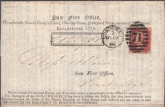 101203 - SUN LIFE ASSURANCE SOCIETY 1866 FINE PRINTED WRAPPER.