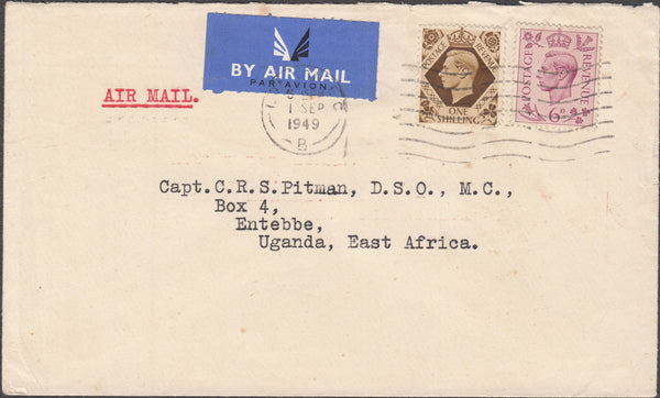 101226 - 1949 MAIL LONDON TO UGANDA.