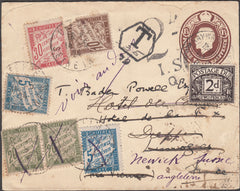 101293 - 1924 MAIL SUSSEX TO FRANCE, RE-DIRECTED WITH UK AND FRENCH POSTAGE DUES/BADEN-POWELL.