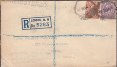 101359 - 1935 MAIL LONDON TO CANADA/H. R. HARMER/STAMP DEALER.