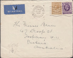 101375 - 1936 MAIL EDINBURGH TO AUSTRALIA.