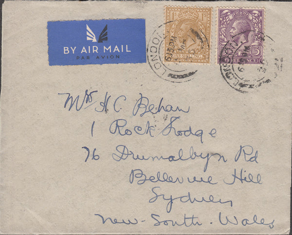 101380 - 1935 MAIL LONDON TO AUSTRALIA.