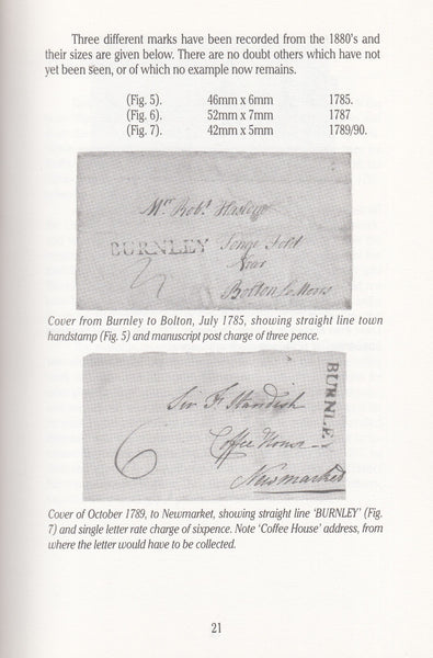 101422 - BURNLEY POSTAL HISTORY : THE STORY OF THE ROYAL MAIL IN BURNLEY BY ERIC HEBDON.