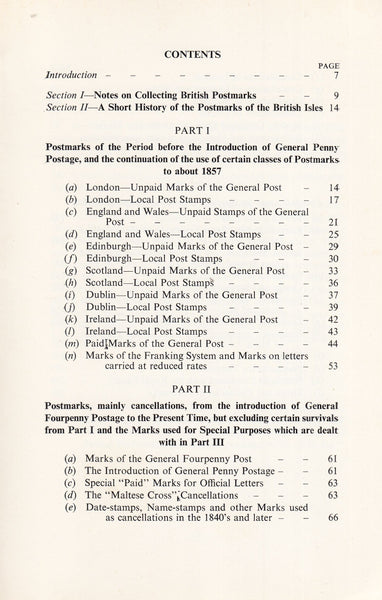 101429 - BRITISH POSTMARKS - A SHORT HISTORY AND GUIDE BY ALCOCK AND HOLLAND.