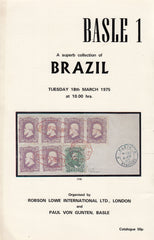 "101590 - ROBSON LOWE ""SUPERB COLLECTION OF BRAZIL"" AUCTION CATALOGUE MARCH 1975."