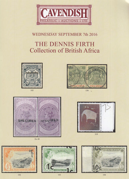 101661 - THE DENNIS FIRTH COLLECTION OF BRITISH AFRICA.
