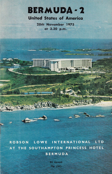 101664 - ROBSON LOWE SALE NOVEMBER 1975 HELD IN BERMUDA OFFERING USA ETC.