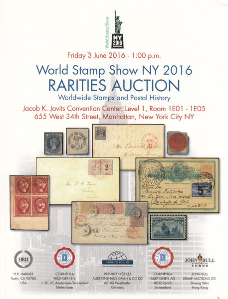 101708 - WORLD'S STAMP SHOW NY 2016 RARITIES AUCTION.