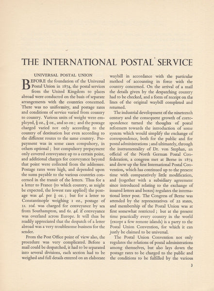 101746 - POST OFFICE GREEN PAPERS NO. 23, 42 AND 45.