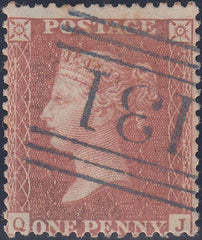 "101877 - PL.46 (QJ) (SG40)/BLUE ""131"" NUMERAL OF EDINBURGH (SPEC C1vb CAT £400)."