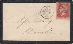 101892 - PL.58 (SK) (SG40) ON COVER IRISH USAGE.